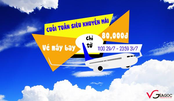 Vé máy bay siêu khuyến mãi chỉ từ 80 ngàn đồng