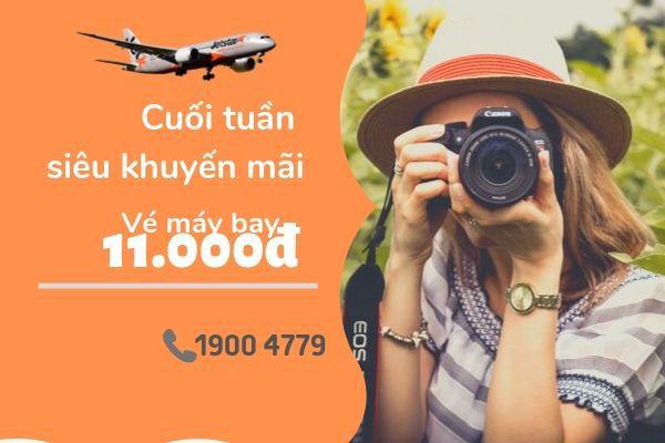 Jetstar khuyến mãi vé máy bay giá rẻ 11k