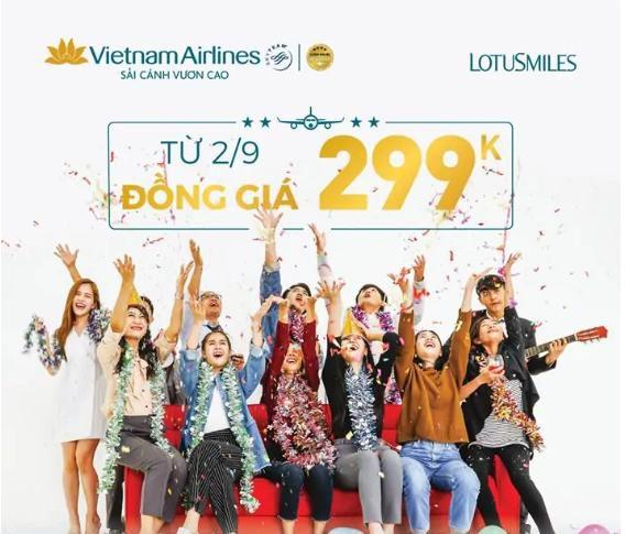 Vietnam Airlines mở bán vé siêu tiết kiệm chỉ 299k
