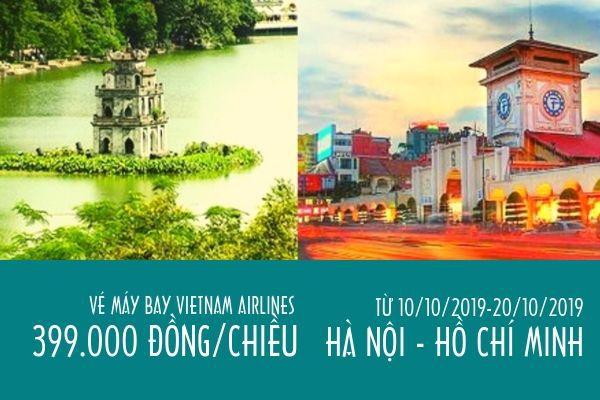 Vietnam Airlines ưu đãi vé máy bay Hà Nội Hồ Chí Minh chỉ 399 000 đ