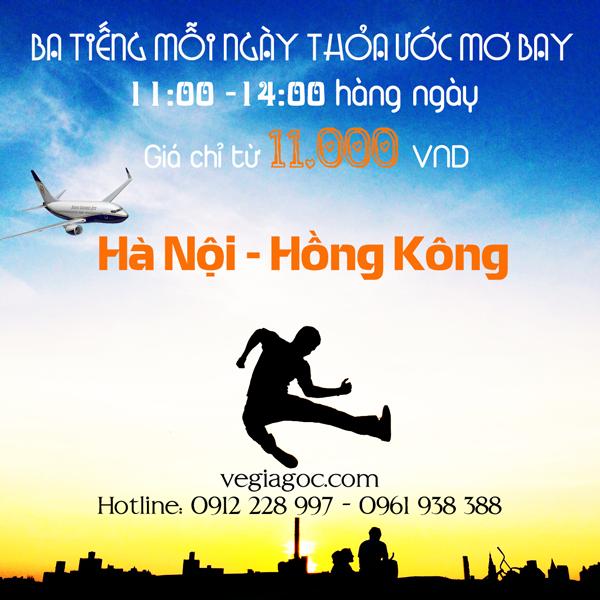 Vé máy bay khuyến mãi đi Hồng Kông tháng 9 chỉ từ 11k