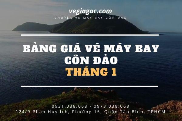 Bảng giá vé máy bay giá rẻ đi Côn Đảo tháng 1