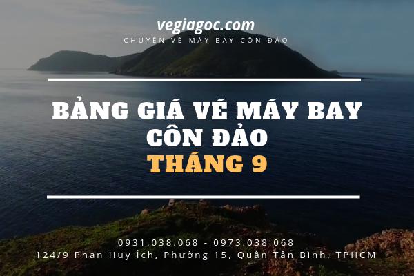 Bảng giá vé máy bay Côn Đảo tháng 9