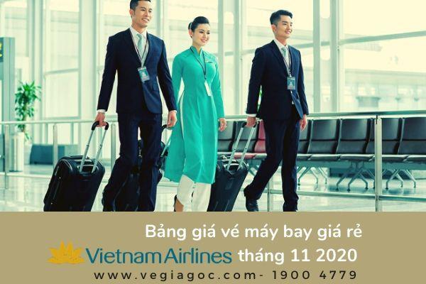 Bảng giá vé máy bay giá rẻ tháng 11 2020 Vietnam Airlines