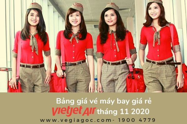 Bảng giá vé máy bay giá rẻ tháng 11 2020 Vietjet