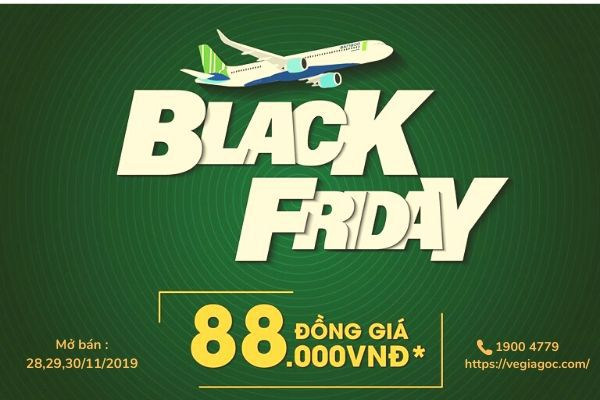 BLACK FRIDAY SĂN VÉ SIÊU RẺ BAMBOO AIRWAYS