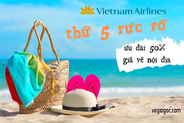 Chào Thứ 5 Rực Rỡ Cùng Vé Máy Bay Vietnam Airlines Siêu Khuyến Mãi