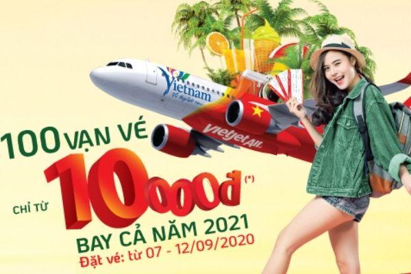 ĐI KHẮP VIỆT NAM VỚI TRĂM VẠN VÉ CHỈ 10.000 ĐỒNG CÙNG VIETJET AIR