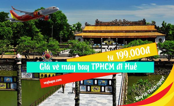 Giá vé máy bay từ thành phố Hồ Chí Minh đi Huế