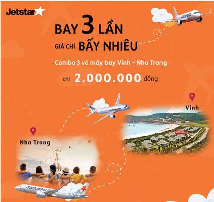 Jetstar Khuyến Mãi Bay 3 Lần Giá Chỉ 2.000.000đ