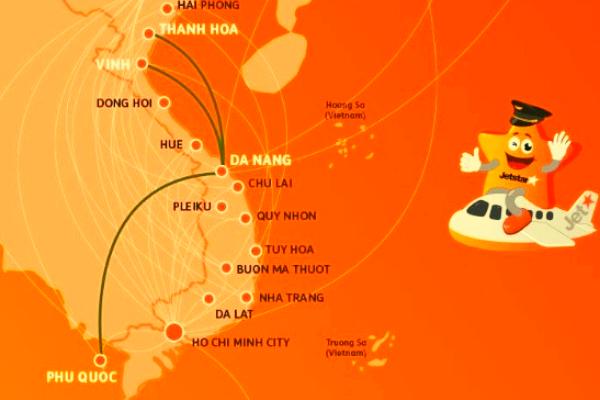 Jetstar mở 3 đường bay mới kết nối Đà Nẵng với Vinh Thanh Hóa Phú Quốc