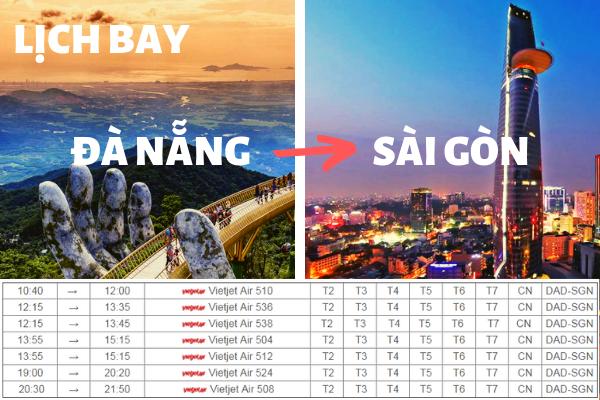 Lịch bay Đà Nẵng đi Sài Gòn