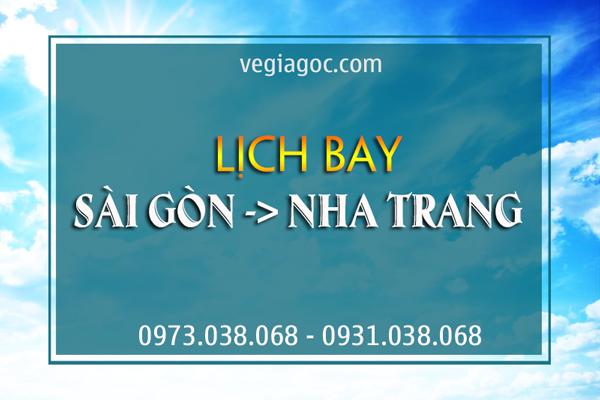 Lịch bay Sài Gòn Nha Trang