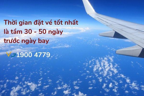 Mua vé máy bay thời điểm nào giá rẻ nhất
