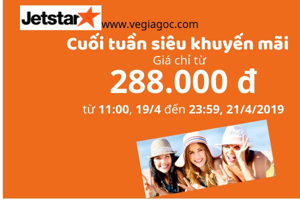 Săn vé máy bay Jetstar khuyến mãi chỉ từ 288 000 đồng