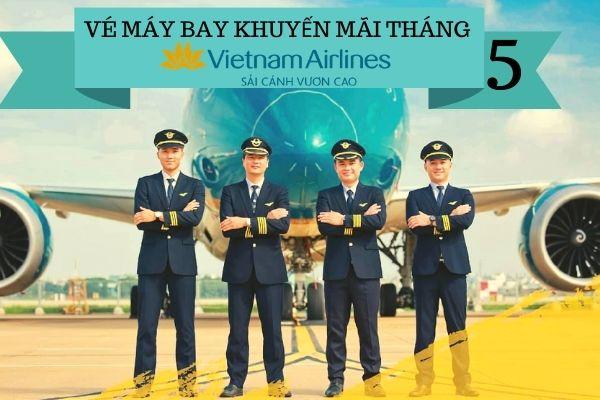 Săn vé máy bay khuyến mãi tháng 4 vietnam airlines