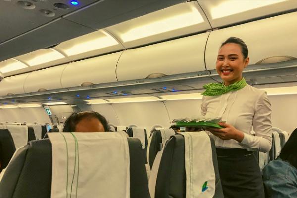 Suất ăn của Bamboo Airways có gì