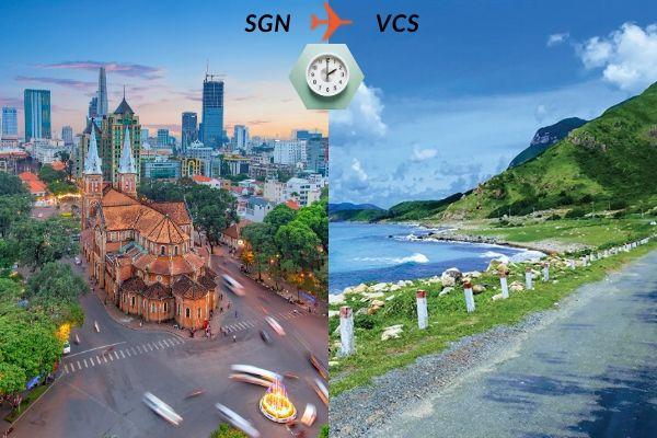 Thời gian bay từ Sài Gòn đến Côn Đảo mất bao lâu