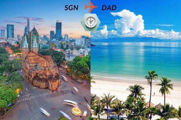 Thời gian bay từ Sài Gòn đến Đà Nẵng mất bao lâu