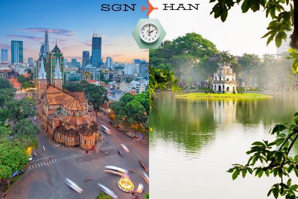 Thời gian bay từ Sài Gòn đến Hà Nội mất bao lâu