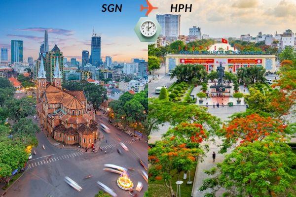 Thời gian bay từ Sài Gòn đến Hải Phòng mất bao lâu