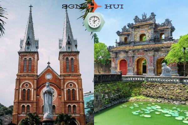 Thời gian bay từ Sài Gòn đến Huế mất bao lâu