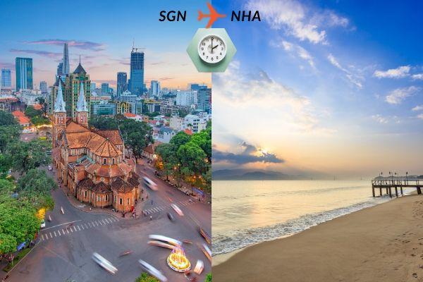 Thời gian bay từ Sài Gòn đến Nha Trang mất bao lâu