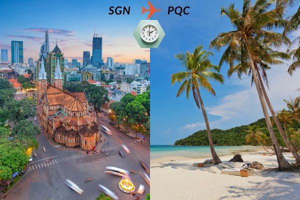 Thời gian bay từ Sài Gòn đến Phú Quốc mất bao lâu