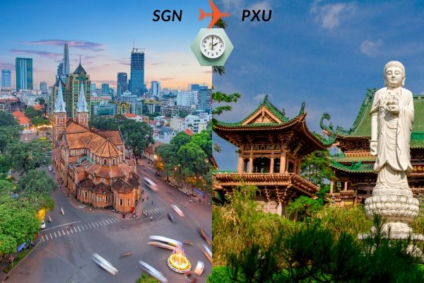 Thời gian bay từ Sài Gòn đến Pleiku mất bao lâu