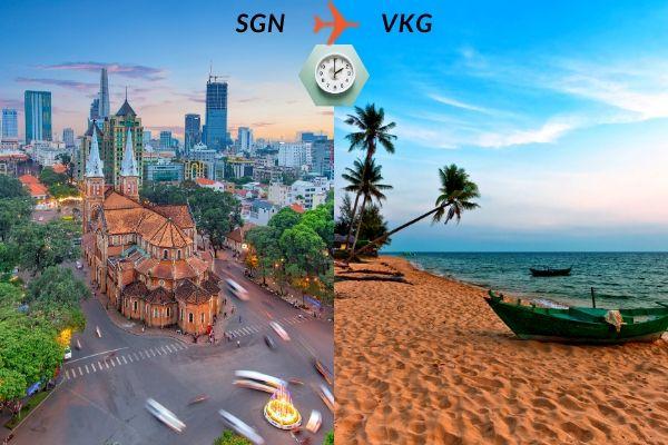 Thời gian bay từ Sài Gòn đến Rạch Giá mất bao lâu