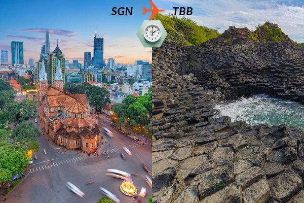Thời gian bay từ Sài Gòn đến Tuy Hòa mất bao lâu