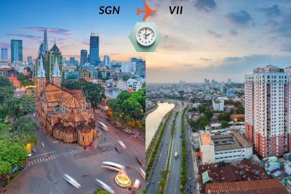 Thời gian bay từ Sài Gòn đến Vinh mất bao lâu