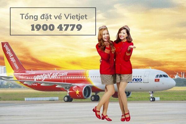 Tổng đài đặt vé máy bay Vietjet tại TPHCM
