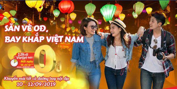 Vietjet Khuyến Mãi 1 500 000 Vé Máy Bay 0 Đồng