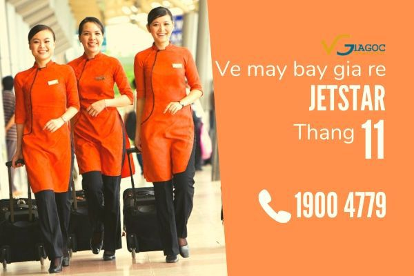 Vé máy bay giá rẻ tháng 11 Jetstar