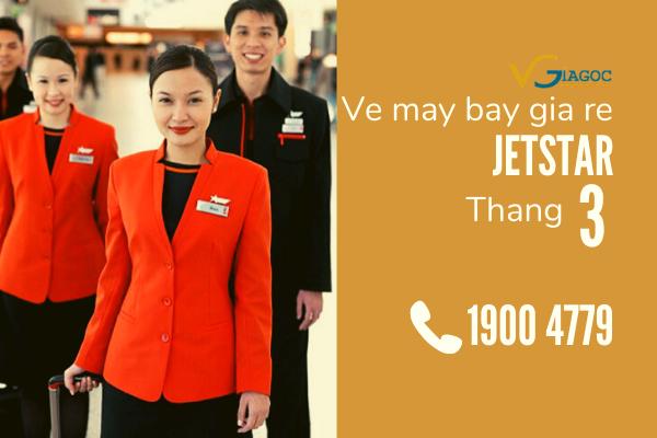 Săn vé máy bay giá rẻ tháng 3 Jetstar