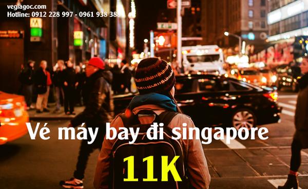 Vé máy bay khuyến mãi đi Singapore tháng 9 chỉ từ 11k