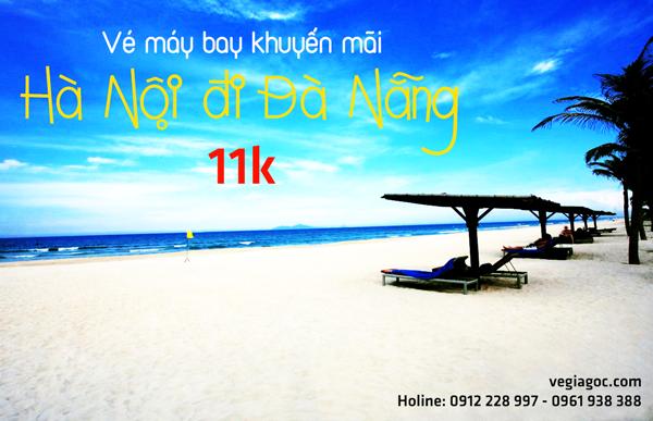Vé máy bay khuyến mãi Hà Nội đi Đà Nẵng chỉ từ 11k
