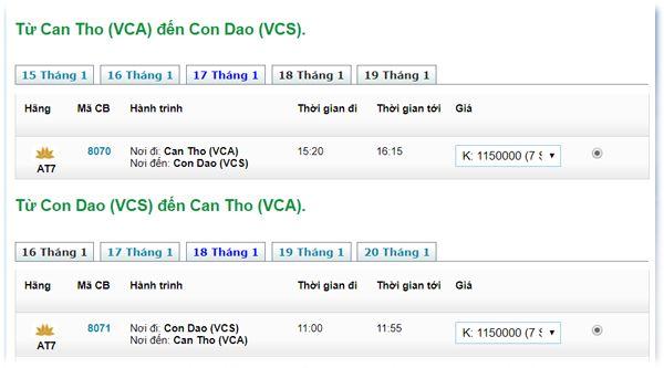 Vé máy bay Sài Gòn đi Côn Đảo