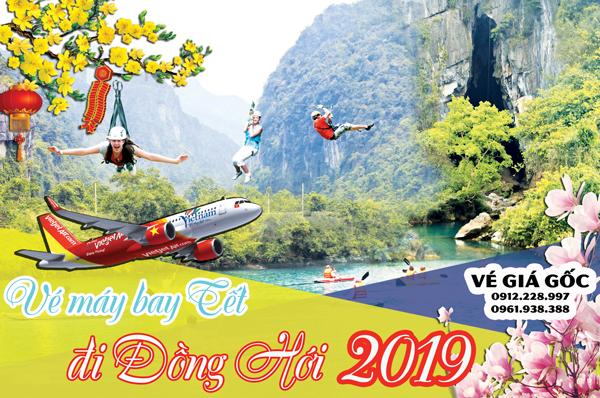 Vé máy bay Tết đi Đồng Hới 2019 Vietjet Air