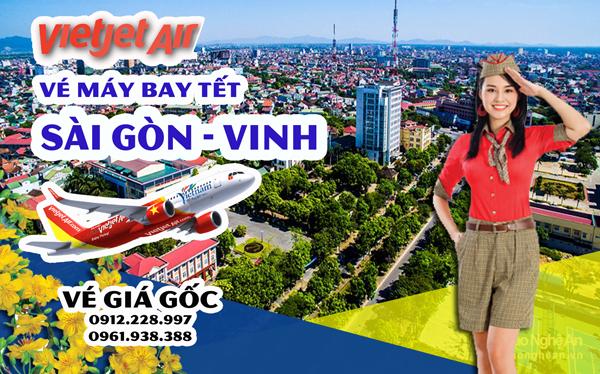Vé máy bay Tết Sài Gòn Vinh Vietjet
