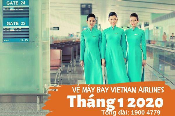 Vé máy bay tháng 1 2020 Vietnam Airlines