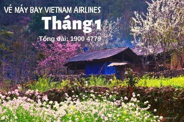 Vé máy bay tháng 1 Vietnam Airlines