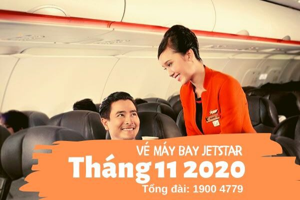 Vé máy bay tháng 11 2020 Jetstar