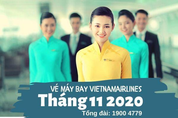 Vé máy bay tháng 11 2020 Vietnam Airlines