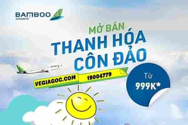 Vé máy bay Thanh Hóa đi Côn Đảo Bamboo Airways