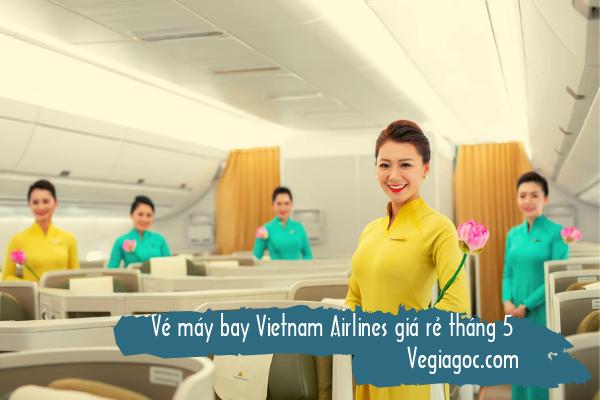Vé máy bay Vietnam Airlines giá rẻ tháng 5