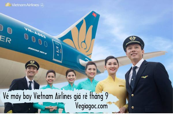 Vé máy bay Vietnam Airlines giá rẻ tháng 9