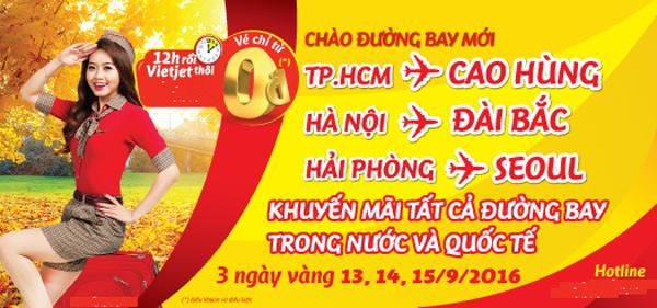 Vé máy bay giá rẻ 0 đồng cho các đường bay quốc tế