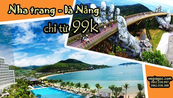 Vietjet khuyến mãi giá vé 99000 đồng đường bay mới Nha Trang Đà Nẵng